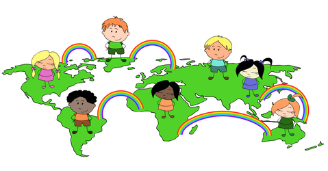 Multi culture children of the world